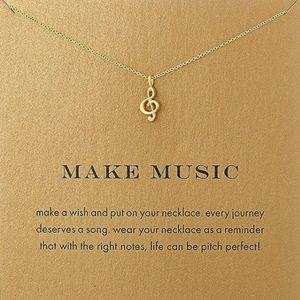 Jewelry - 🎃FREE*** Make Music Musical Necklace silver gold